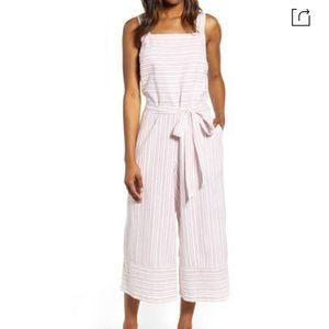 Talia Stripe Cotton & Linen Jumpsuit  BEACHLUNCHLO